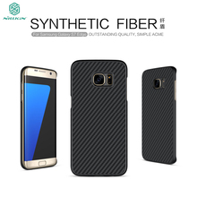 Nillkin imported woven carbon fiber material closely joint with PP back shell Mobile Phone Case For Samsung galaxy S7 Cover bag