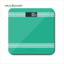 ALLiSHOP 0.2g-180Kg fashion digital bathroom scales Non-slip quality BMI display 290*290mm Toughened Glass
