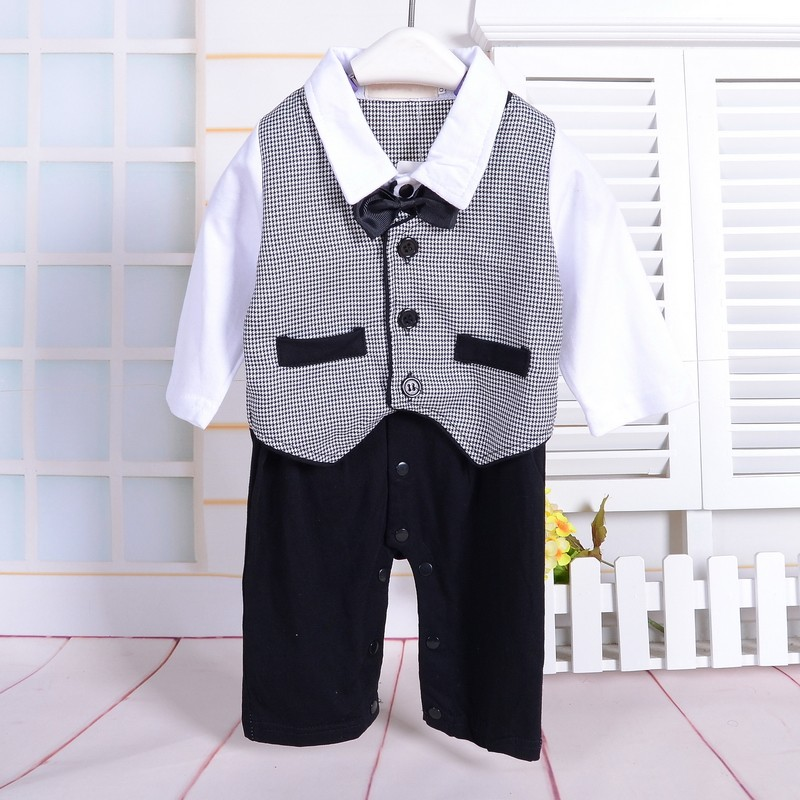 1 year boy baby dress gentlemen romper toddler long sleeve jumpsuit baby boy 1st birthday outfits mamelucos para bebes<br><br>Aliexpress