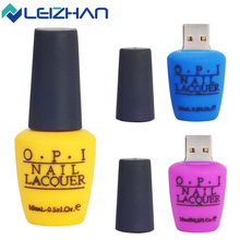 2017 New Design USB Flash Drive Nail Lacouer 32GB Silicone 16GB USB Pen Drive 8GB 2.0 Pendrive Girl's Special Gift U Disk
