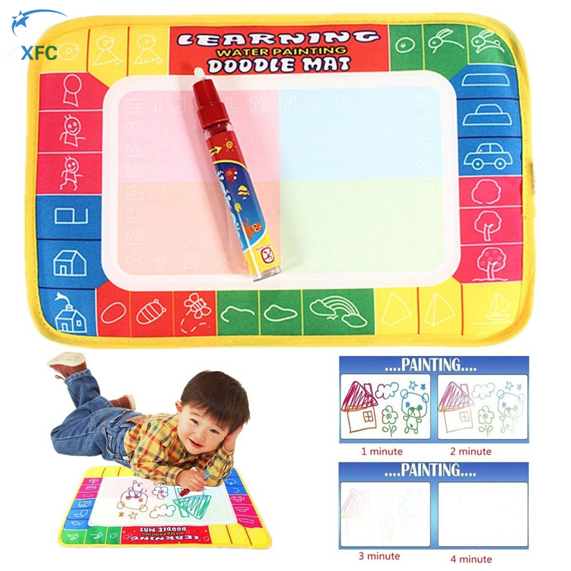 XFC New Magic Water Drawing Painting Writing Board Mat Magic Pen Doodle Aquadoodle Mat For Baby Kid Children Toys Gift(China)