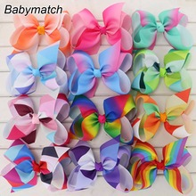 Babymatch Boutique 6'' Large Grosgrain Ribbon Hair Bows WITH Alligator Clip Bow Clips For Kids Hair Gift Cute Christmas Bows(China)