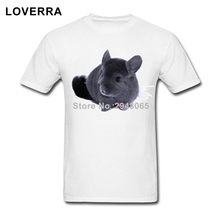 Short Sleeve Chinchilla Male T-Shirts Summer Custom Tees Shirts Man 100%Cotton O-Neck Plus Size Brand Clothing TShirt Of Adult