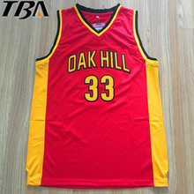 2017 New Cheap Kevin Durant Jersey 33 Oak Hill High School Basketball Jerseys Throwback Red Stitch Shirts Free Shipping(China)