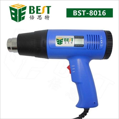 Hot air gun Heat gun BST-8016 Hot Air Gun Handheld LCD Display Electronic Heat Gun 220V 1600W For SMT SMD Rework Repair.        <br>