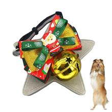 Cats Dog Snowflake Bowtie Bell Collar Wedding Accessories Santa Claus Dog Tie Holiday Decors Christmas Grooming Pet Supplies 1(China)