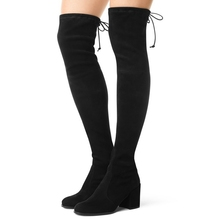 Women Over The Knee Boots Suede Thigh High Boots 2017 Autumn Winter Ladies Fashion Fur Warm high Heel Boots Snow Shoes Woman(China)