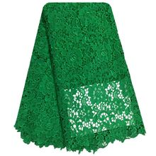 Free Shipping African swiss voile lace high quality.Green Color wedding lace African Fabric 5 Yards 100% Cotton Swiss Voile Lace