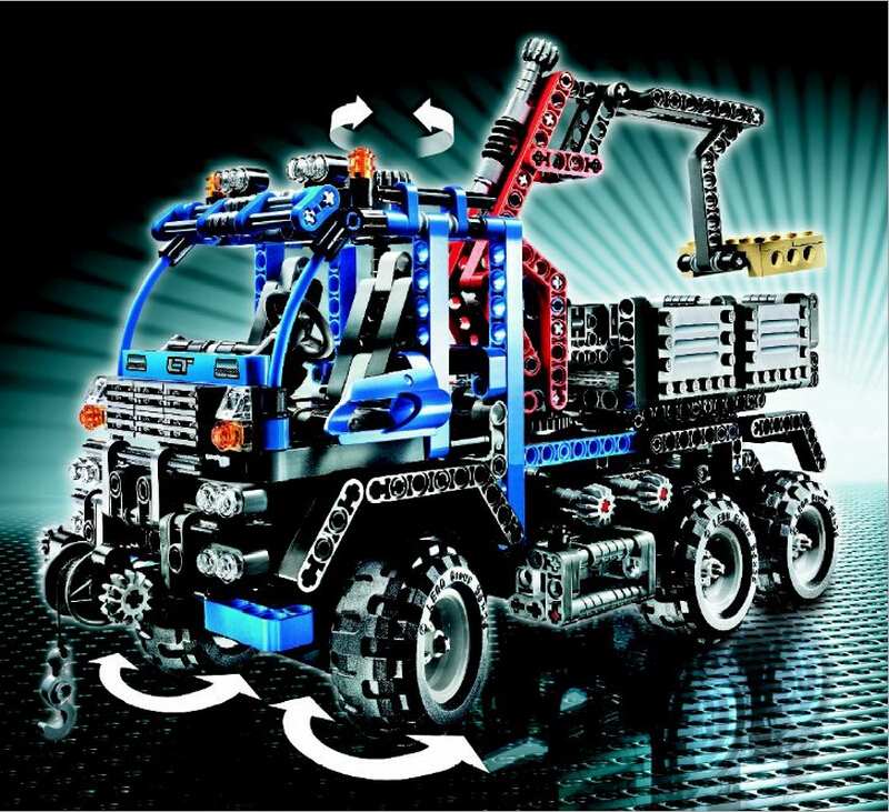 DECOOL Dumpers 3331 large 805pcs Exploiture Crane model Enlighten Plastic building blocks sets educational children diy toys<br>
