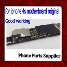 100% Test & Good Working 4s Motherboard,Original Unlocked 16G for iphone 4s Mainboard,Cellphone Boards Free Shipping