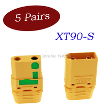 5 Pairs Original Amass XT90S XT90-S XT90 Connector Male Female FPV Drone Battery Connector for RC Quadcopter Brushless Motor