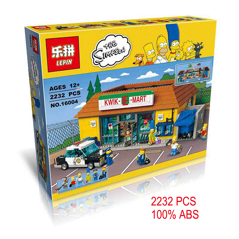 New LEPIN 16004 2232Pcs the Simpsons KWIK-E-MART Minifigure Action Figures Model Building Block Bricks Compatible 71016 Boy gift<br><br>Aliexpress