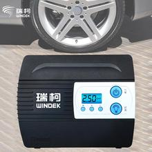 WINDEK Portable Car Motor Motorcycle electric Tire Inflator Pump Auto Air Compressor inflatable pumps with Preset function 12V(China)