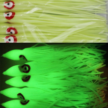 10PCS 12cm / 15cm / 18cm / 20cm Large Big Soft Glow Octopus Skrit Squid Lure Luminous Saltwater Fishing Baits(China)
