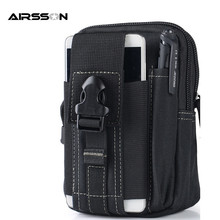 Universal Tactical Molle EDC Utility Pouch Gadget Belt Waist Bag Pack Outdoor Sport Waterproof Cases Pouch Phone Key
