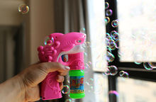 Dolphin Bubble Gun Toy Blaster Squirt Blower Flashing Light Up Party Favors Kids Child Fancy Gift