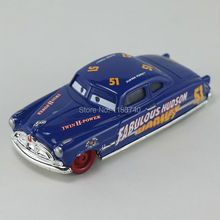 Pixar Cars Doc Fabulous Hudson Hornet Diecast Metal Toy Car For Children Gift 1:55 Loose New In Stock(China)