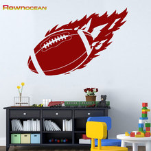 ROWNOCEAN American Football Rugby Wall Stickers For Kids Rooms Nursery Decoration Vinyls Quote Art Children's Muurstickers D504