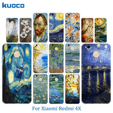 "Buy Soft TPU Xiaomi Redmi 4X Case Van Gogh Pattern 5.0"" Redmi 4X 4 X Case Back Cover Silicon Cases Mobile Phone Bags for $1.25 in AliExpress store"