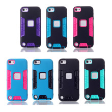 Housse Dual Color Skin For Apple iPod Touch 5 Five Silicon Back Cover Armor Anti-Knock Cases Couqe Mobile Telefon Accessories