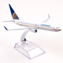 16cm Passenger Plane Model Boeing B737-800 N27213 Continental Alloy Air Plane Airbus Juguetes Toy Airplane Model birthday gift