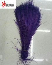 50 PCS/natural purple peacock feathers in the eye, 10 to 12 inches of the peacock feather wedding decoration plume