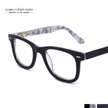 Vintage Fashion NY City Subway Map Design Women/Men Acetate Clear Lens Optical Frame Eyeglasses with Spring hinge 604G