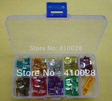 180PCS  micro Mini Assorted Car Blade Fuse AutoTruck SUV Fuses With Box 5A 7.5A 10A 15A 20A 25A 30A 35A 40A  Free shipping