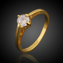 Hearts Q Jewelry Engagement Rings Women Elegance Imitated Diamond 18K Real Gold Plated Cubic Zirconia Wedding Bands Rings