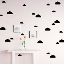 DIY Removable Small Home Children Decor Free Shipping Cloud Wall Decal Stickers Baby Nursery Bedroom Vinyl Murals Wallpaper Kids