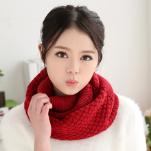 2017 New fashion Winter knitted Scarves Wool  knitted Scarf women Fashion Pure neck Woolen Scarf Autumn Winter Scarf