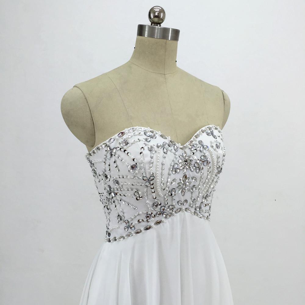 Sexy Chiffon A Line Beach Wedding Dresses Vintage Boho Cheap Bridal Gowns Vestidos De Novia Robe De Mariage Bridal Gown in stock 6