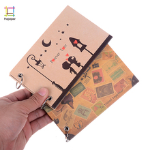 Baby Kids DIY Handmade Self Adhensive 5 Inch Mini Couple Love Travel Vintage Scrapbook Wedding Children Photo Album(China)