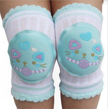 1 Pair 13cm*9cm Breathable Baby Leg Warmers Toddler Safety Kids Knee Pads Short Kneepad Crawling Protective Leggings(China)