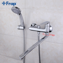 Frap High-quality 40cm long nose Bathroom Shower Faucets Bathtub Faucet Mixer Tap With Hand Shower Sets F2284(China)