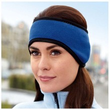 Polar Fleece Ear Warmer Winter Head Band Ski Ear Muff Unisex Stretch adjustable ear muffs(China)