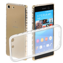 "Big discount TPU phone Case for Sony Xperia M5 5.0"" Slim Flexible Soft  Shell Protection clear Cover  case for LG Sonym5"