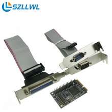 MINI PCI-e to RS232 serial parallel port adapter COM port expansion PCI Express adapter card(China)