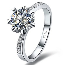 AU750 Moissanite Lab Grown Diamond Ring Jewelry Engagement Micro Paved Twist Setting 1CT Snowflake Brand Moissanite Positive 18K(China)