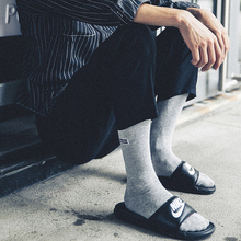 Street Style Solid Color Crew Socks Harajuku Fashion Hombre Designer Skateboard Socks High Quality Autumn Cotton Tube Men's Sock