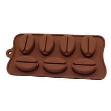 7 cavity silicone mold chocolate coffee tools kitchen oven baked products Coffee Bean Cake Decorating Tools Moldes De Silicone(China)