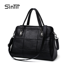 SINTIR Women Genuine Leather Handbag Ladies Patchwork Shoulder Bags For Work Twenties Girls Shopping Bag Bolsas femininas Female