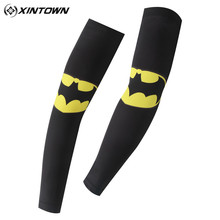 XINTOWN Bicycle Arm Warmer Sleeves Batman The Avenger Iron Man UV Protective MTB Outdoor Sporting Running Cycling Arm Sleeves(China)