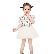 2017 Summer Princess Baby Girl Ice Cream Dress Mesh Baby Tutu Dress Children Costumes for Kids Clothes Lolita Princess Dress