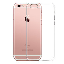 Transparent soft silicone phone case For Iphone 6 6s 7 Clear Crystal shockproof cover for iphone 6/6s 7 plus case coque fundas