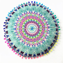 Cute Good  Quality  Indian Mandala Floor Pillows Round Bohemian Cushion Cushions Pillows Cover Case5.35 Dropshipping B810