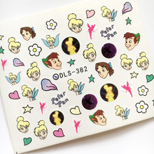 Newest Fashion DLS-382 cartoon water seal water transfer nail art sticker supplier accessories water decal