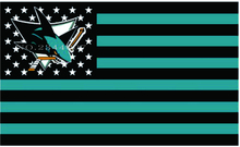 San Jose Sharks NHL de Hockey del Equipo de Alta calidad EE. UU. estrella de la raya Flag 3X5FT(China)