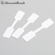 "DoreenBeads Paper Label Tags White Home Market DIY Supplies Multi Use Price Tags 60mm(2 3/8"") x 12mm( 4/8""), 50 PCs(China)"