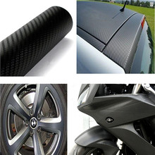 127 x 40cm 3D Carbon Fiber Vinyl Roll Decal Graphic Adhesive DIY Wrap Sheet Film Black New